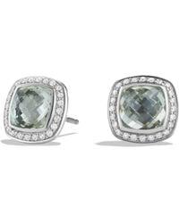David Yurman - Albion Earrings With Prasiolite And Diamonds - Lyst