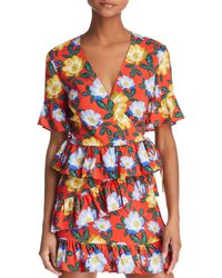 The Fifth Label - Reunion Floral Wrap Top - Lyst
