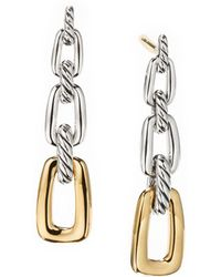 David Yurman - Wellesley Link Drop Earrings With 18k Gold - Lyst