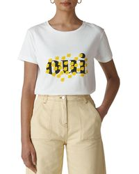 Whistles - Oui Floral Graphic Tee - Lyst