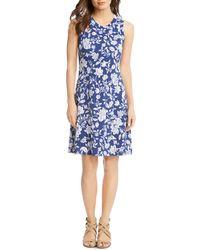 Karen Kane - Woodblock Floral-print Dress - Lyst