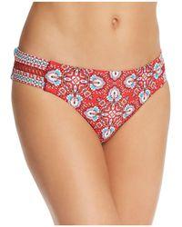 Laundry by Shelli Segal - Lattice Tab Side Hip Bikini Bottom - Lyst