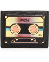 MCM - Cassette Leather Mini Card Case - Lyst