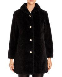 Kate Spade Faux Fur Coat - Black