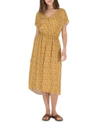 B Collection By Bobeau Printed Woven Dress - Yellow