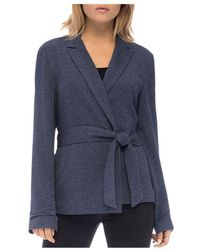 B Collection By Bobeau - Tie-front Knit Jacket - Lyst
