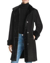 Maximilian - Peyton Shearling Coat With Toscana Shearling Stand Collar - Lyst