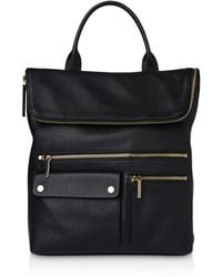 Whistles - Farrow Pocket Detail Leather Backpack - Lyst