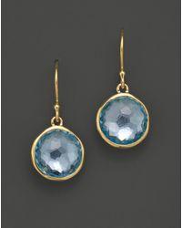 Ippolita - 18k Gold Lollipop Earrings In Blue Topaz - Lyst