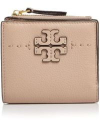 Tory Burch - Mcgraw Mini Foldable Leather Wallet - Lyst