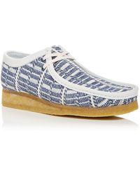Clarks Woven Wallabee Desert Boots - Blue