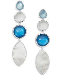 Ippolita - Sterling Silver Wonderland Multi - Stone Linear Drop Earrings - Lyst