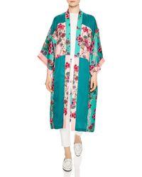 Sandro - Ting Printed Colour Blocked Kimono Jacket - Lyst