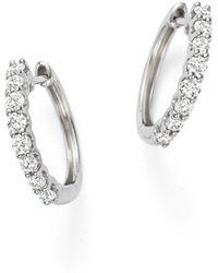 Bloomingdale's - Diamond Hoop Earrings In 14k White Gold, 0.60 Ct. T.w. - Lyst