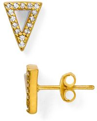 Freida Rothman - Slice Stud Earrings - Lyst