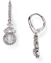 Nadri Swarovski Crystal Drop Earrings - Metallic