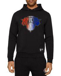 BOSS by Hugo Boss W Bounce Nba New York Knicks Relaxed Fit Hoodie - Black