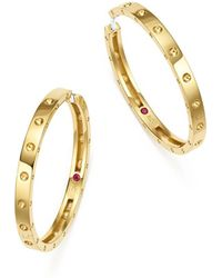 Roberto Coin - 18k Yellow Gold Symphony Pois Moi Hoop Earrings - Lyst