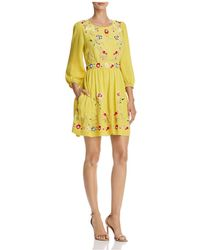 French Connection | Saya Floral Embroidered Dress | Lyst