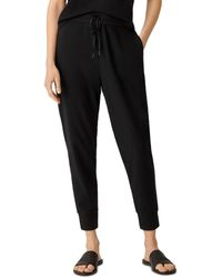 Eileen Fisher Slouchy Jogger Trousers - Black