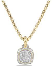 David Yurman - Albion Pendant With Diamonds In 18k Gold - Lyst