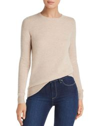 C By Bloomingdale's Crewneck Cashmere Sweater - Multicolor