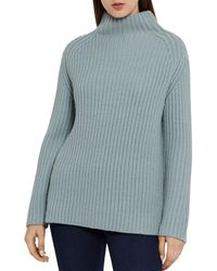 Reiss Sonia Chunky Ribbed Sweater - Blue