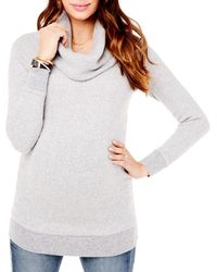 Ingrid & Isabel Maternity Cowl Neck Sweater - Grey
