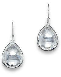 988a0f0e21d Ippolita - Sterling Silver Rock Candy Small Teardrop Earrings In Clear  Quartz - Lyst