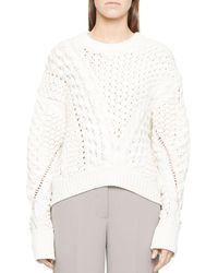 3.1 Phillip Lim - Cable Knit Sweater - Lyst
