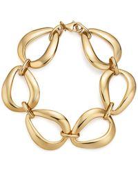 Bloomingdale's - 14k Yellow Gold Pear Shape Link Bracelet - Lyst