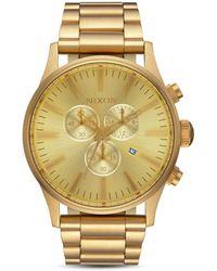 Nixon Sentry Chrono Watch - Metallic