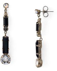 Sorrelli Sasa Drop Earrings - Black