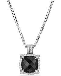 David Yurman - Châtelaine Pavé Bezel Pendant Necklace With Black Onyx And Diamonds - Lyst
