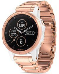 Garmin Fenix 5s Plus Rose Gold - Tone Link Bracelet Smartwatch - Multicolor