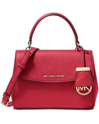 MICHAEL Michael Kors Ava Extra Small Leather Crossbody - Red