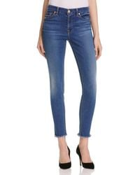 7 For All Mankind - Skinny Ankle Jeans In Reign - Lyst