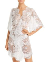 Homebodii Kassiah Lace Short Robe - White