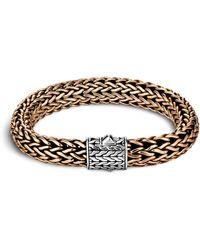 John Hardy - Men's Two-tone Woven Chain Bracelet - Lyst