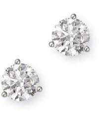 Bloomingdale's Certified Diamond Solitaire Stud Earrings In 14k White Gold