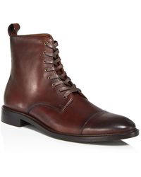 Bloomingdale's The Store At Bloomingdale's Leather Cap - Toe Boots - Brown