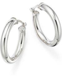 Bloomingdale's Sterling Silver Tube Hoop Earrings - Metallic
