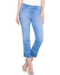 Liverpool Jeans Company - Carter Crop Straight Jeans In Hearst - Lyst