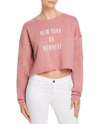 Knowlita - New York Or Nowhere Cropped Sweatshirt - Lyst