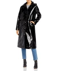 Jane Post Long Slicker Jacket - Black