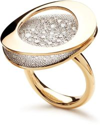 Antonini - Antoni 18k Yellow Gold Atolli Pavé Diamond Large Ring - Lyst