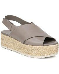 Vince Women's Jesson Platform Sandals - Gray