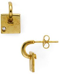 Argento Vivo - Square Dangle Earrings - Lyst