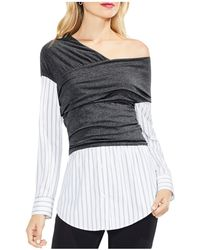 Vince Camuto - One-shoulder Layered Look Top - Lyst