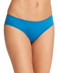Vince Camuto Riviera Shirred Cheeky Bikini Bottoms - Blue